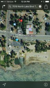 Global Café - Tahoe Vista Map
